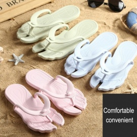 Travel Portable Summer Flip Flops Foldable Beach Sandals Swimming Flat Slippers For Men Gray/39