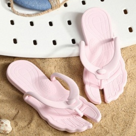 Travel Portable Summer Flip Flops Foldable Beach Swimming Anti Slip Flat Slippers For Women Sky Blue/35