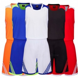 Basketball Sports Jerseys Shorts Sleeveless Vest Set Student Breathable Quick Dry Training Suit For Men Black/L
