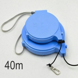 Cassette Automatic Missed Fishing Rope High Elastic Retaining Pole Rope Slipped Finder Fishing Line Tackle 40m Sky Blue