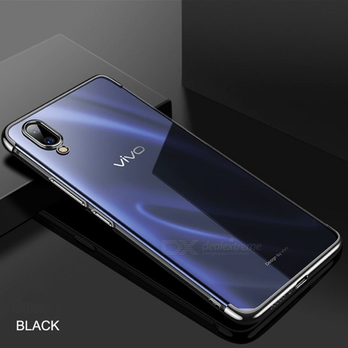 Cafele Ultra Thin Electroplating TPU Soft Protective Phone Case / Back Cover For Vivo X23 Black