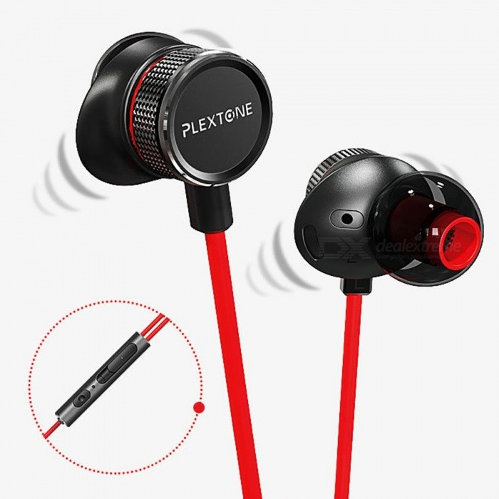 G15 Metal 3.5mm Wired In-Ear Computer Gaming Headset Earphone Earbuds For Phones Red