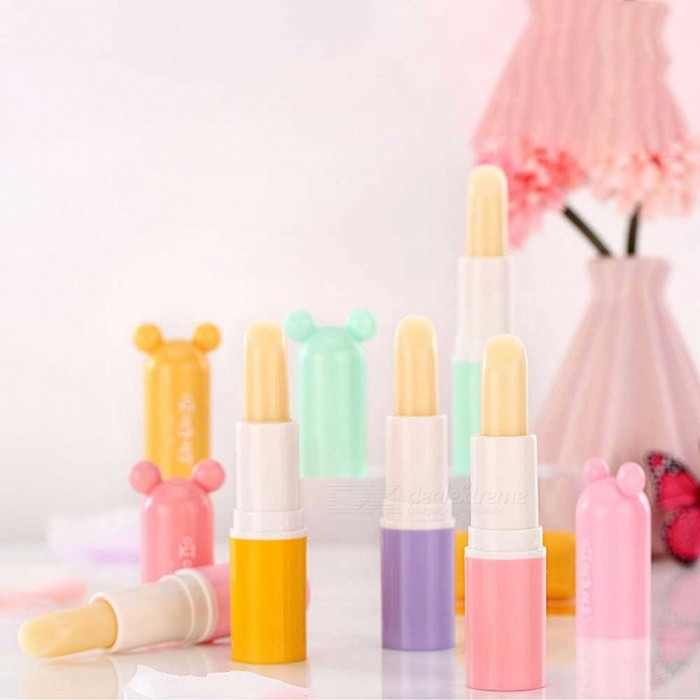 Cute Natural Colorless Lip Balm, Moisturizing Nourishing Lip Protector Lipstick For Children Kids Orange