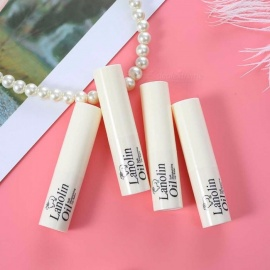 Transparent Colorless Lip Balm, Moisturizing Nourishing Lanolin Lipstick Makeup Cosmetic For Men Women Random Delivery