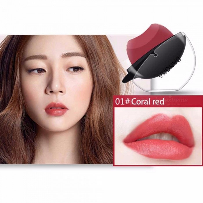 Easy To Wear Lip Shape Lazy Lipstick, Moisturizing Maquiagem Matte Lipstick Pink