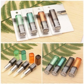 Transparent Colorless Lip Balm, Moisturizing Nourishing Lip Oil Makeup Cosmetic For Men Orange