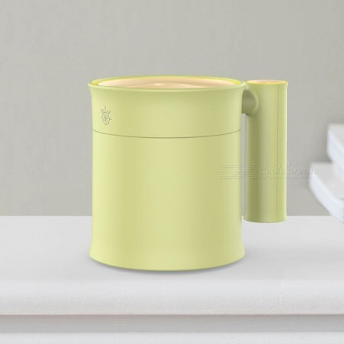 Buy 350ML Mini Bamboo Essential Oil Diffuser, Aromatherapy Air Humidifier With Probe And USB Fan Design Light Green with Litecoins with Free Shipping on Gipsybee.com