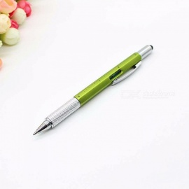 Multi-functional Screwdriver Ballpoint Pen, Touch Screen Metal Gift Tool School Office Supplies Stationery Pen Black/Yellow