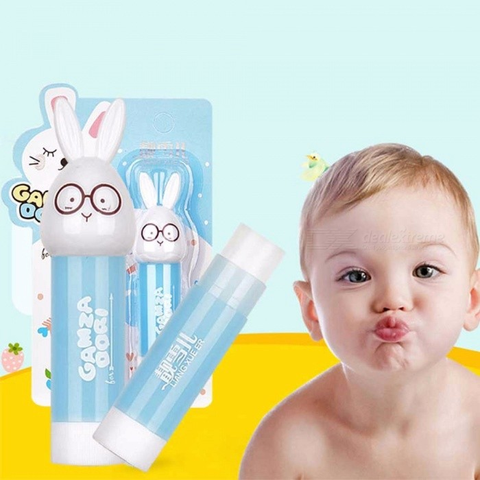 1PCS Lip Balm Children Moisturizing Long Lasting Lip Protects Cartoon FruitC Random Color