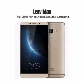 "Letv LeEco Le MAX X900 LTE 4G Android Smart Phone Snapdragon 810 Octa Core 6.33"" 21.0MP 2560*1440P Touch ID Gold"
