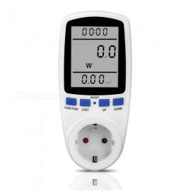 Popular 1Pcs EU Plug Digital Voltage Wattmeter Power Analyzer Electronic Energy Meter Automatic Kwh Switch White