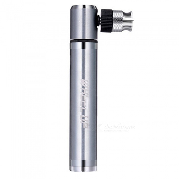 Portable Mini Bicycle Pump 84g High Pressure Cycling Hand Air Pump Ball Tire Inflator Mountain Bike Pump Silver