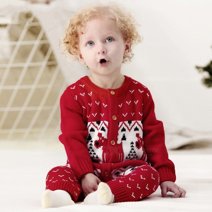 Christmas-Round-Neck-Long-sleeved-Knit-Jumpsuit-For-Baby-Classic-Unisex-Buttoned-Knitted-Romper-Navy-Blue6M