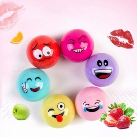 Natural Plant Organic Sphere Ball Cartoon Expression Lipsticks Moisturizer Embellish Lip Balm Chapstick Random Color