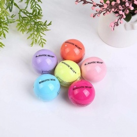 Makeup Round Sphere Moisturizing Lip Balm Natural Plant Lip Care Gloss Lipstick Fruit Embellish Random Color