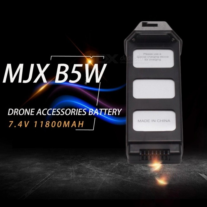 Premium 7.4V 11800mAh Lithium Battery For MJX B5W Drone UAV Silver/25C