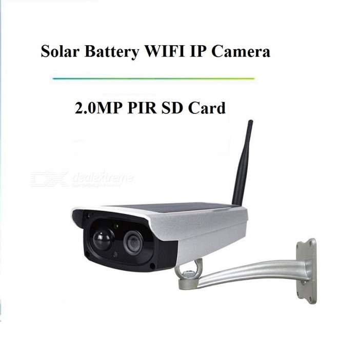 STRONGSHINE 1080P HD Battery PIR Surveillance SD Card Wireless IP Solar Panel Powered Wi-Fi Camera