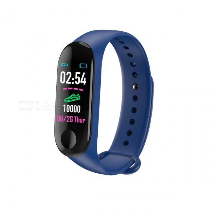 Measy M3 Color Screen Smart Fitness Bracelet Watch with Pedometer, Blood Pressure / Heart Rate Monitor
