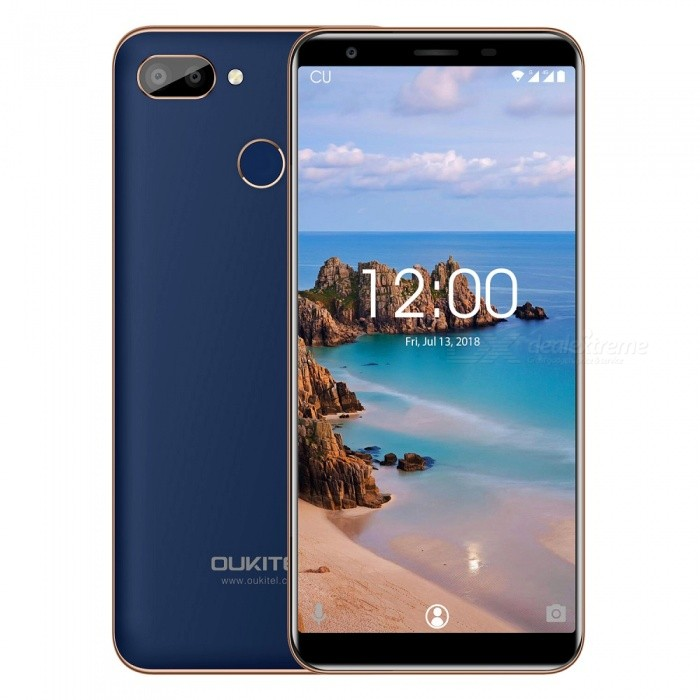 "OUKITEL C11 Pro 5.5"" 18:9 Android 8.1 MTK6739 Quad-Core 8MP+2MP/2MP Fingerprint 4G LTE Smartphone with 3GB RAM 16GB ROM"