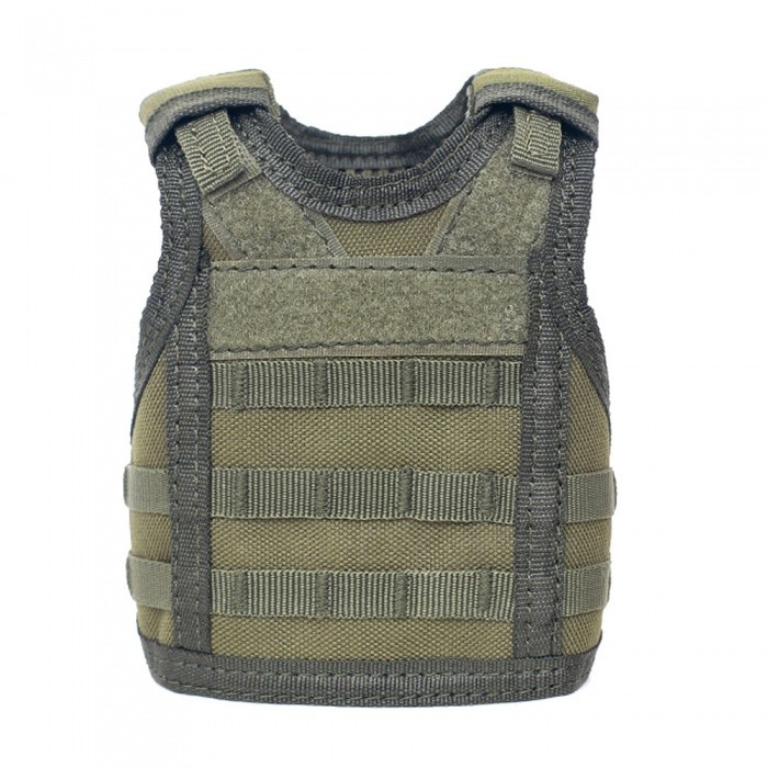 Outdoor Mini Personality Molle Bar Decoration Military Vest for Drink Beer Bottle