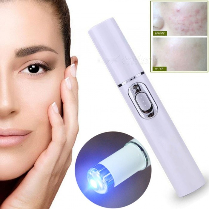 ZHAOYAO Acne Laser Pen Portable Wrinkle Removal Durable Soft Scar Remover Blue Light Therapy Pen Massage Spider Vein Eraser