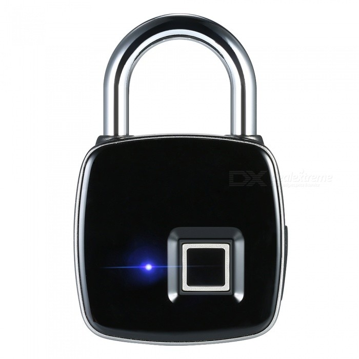 HakkaDeal USB Rechargeable Smart Keyless Fingerprint Padlock Lock
