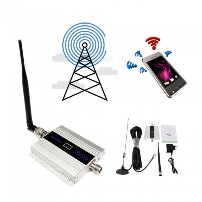 LCD GSM 900MHz Mobile Cell Phone Signal Repeater Booster Amplifier Cellular  Repeater EU Plug