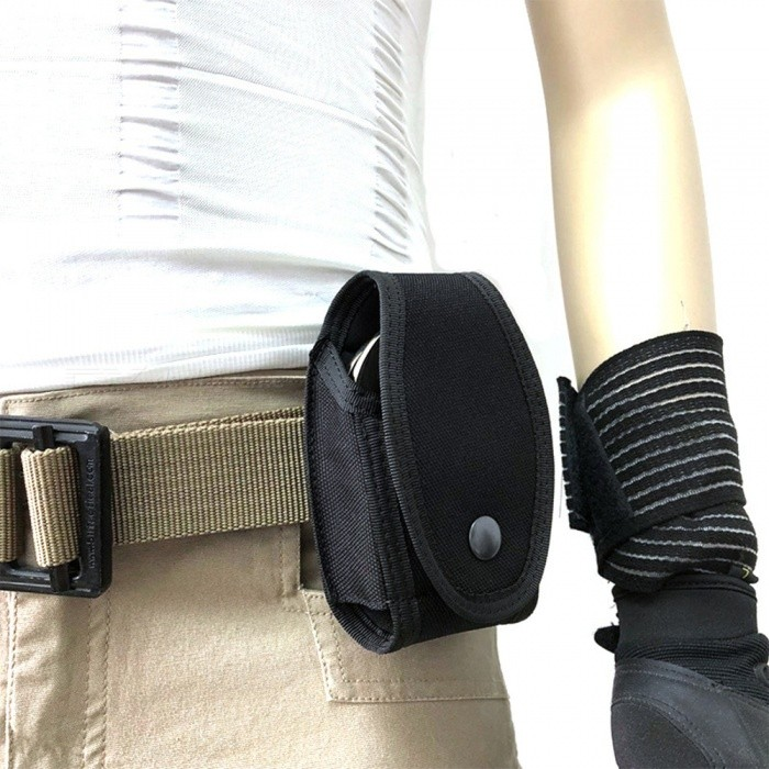 New Tactical Outdoor Small Pockets Multi-function Handcuffs Bags Of Professional Sports Bag Waist Hanging Bags+Black