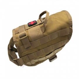 New-Tactical-Outdoor-Equipment-The-MOLLE-Vest-Dog-Multifunctional-Military-Enthusiasts-Dog-Back-Charge-Edition-Dog-Clothes2bKhaki