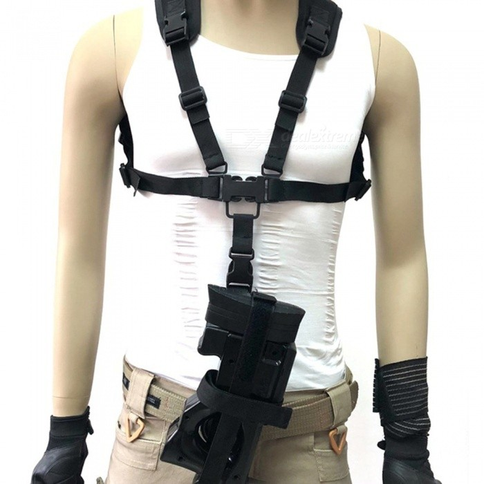 Outdoor Multifunctional Tactical Vest Hanging Belt P90 Hunting Gun Rope Special Safety Rope + Black