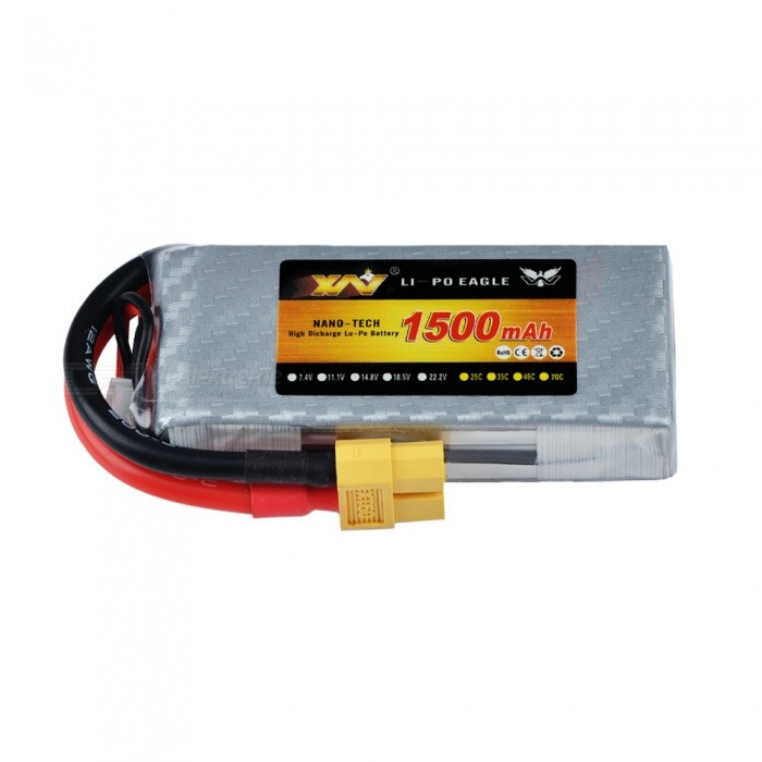 HJ 7.4V 1500mAH 100C 2S Rechargeable Lipo Battery With XT60 Plug For RC Models FPV Racing Multicopter