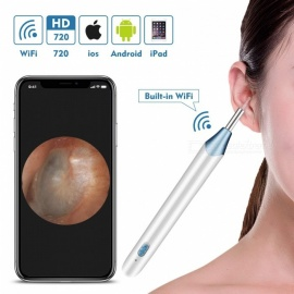 Measy Wireless Ear Cleaning Endoscope, Anti-Scald HD Visual Inspection Ear Borescope for iOS, Android, Tablet -(Not for PC)