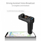 BT53Q  Bluetooth Handsfree Car Kit Audio MP3 Player QC3.0 Dual USB Charger Adapter