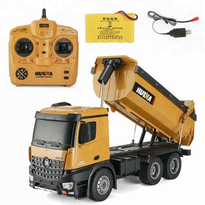Buy ESAMACT Dump Truck Huina 573 10 channel Remote Control RC Truck Dump self-discharging Max load RTR 2.4GHz 1:14 LED Light with Litecoins with Free Shipping on Gipsybee.com