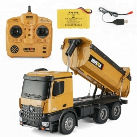 ESAMACT-Dump-Truck-Huina-573-10-channel-Remote-Control-RC-Truck-Dump-self-discharging-Max-load-RTR-24GHz-114-LED-Light