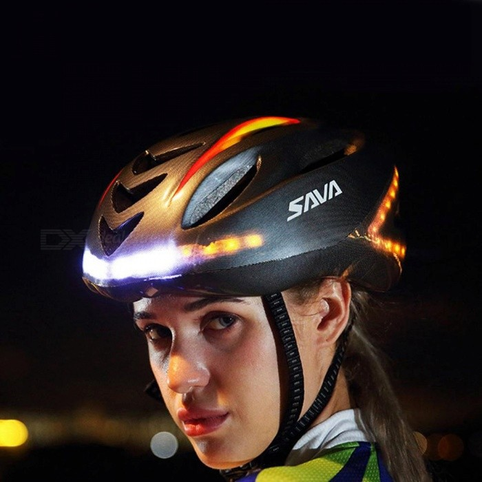 ESAMACT Cycling light helmet Smart Steering MTB Helmet Mountain Bike Accessory USB Chargeable Safe Men Women