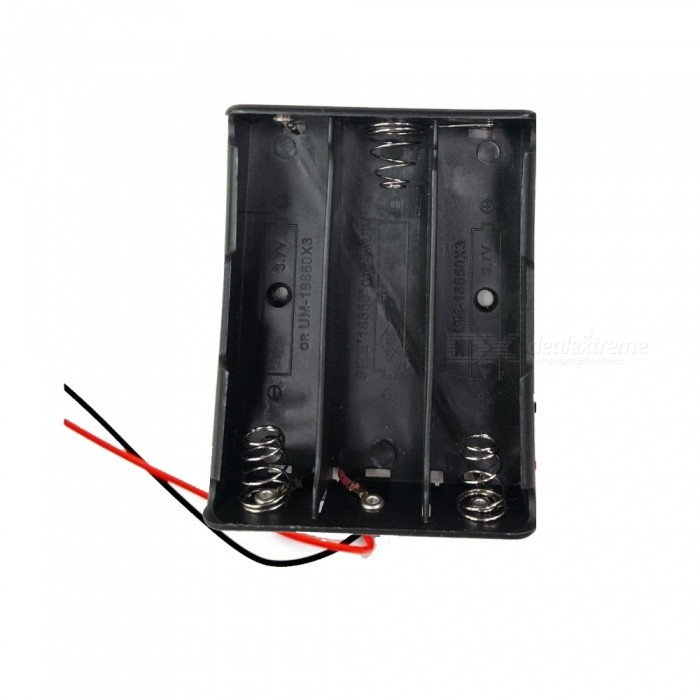 New Plastic 3x18650 Battery Case Holder Storage Box with Wire Leads for 18650 Batteries