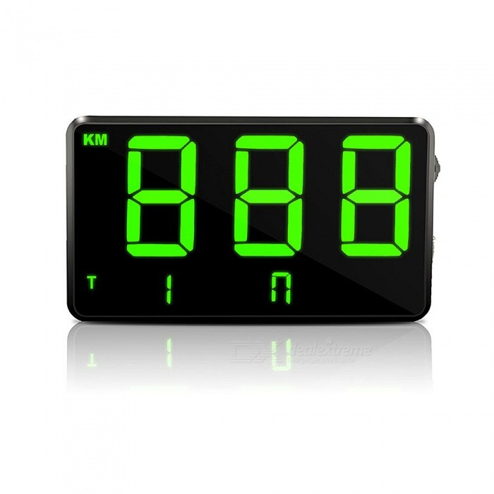 ZIQIAO C80 Universal Car and Motorcycle HUD Head-Up Display GPS Speedometer