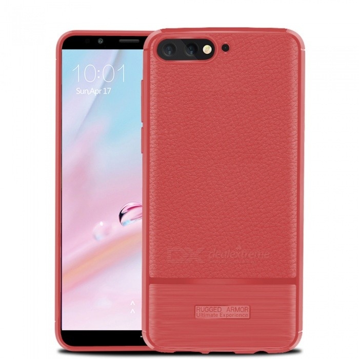 Naxtop Case for Huawei Y6 2018 / Honor 7A Standard Edition Soft TPU Lychee Pattern Slim Light Phone Case Shock Resistant