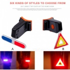 JEDX Bicycle LED Tail Light Safety Warning Light Laser Night Mountain Bike Rear USB Charging