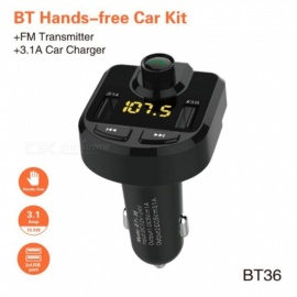 Car Bluetooth Kit FM Transmitter Modulator Wireless Hands-free Audio Radio MP3 Player