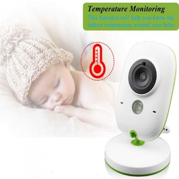 VB602 New 2.4 Inch Wireless Baby Monitor Video Babysitter Care Home Wireless Security Two-Way Intercom Camera EU Plug