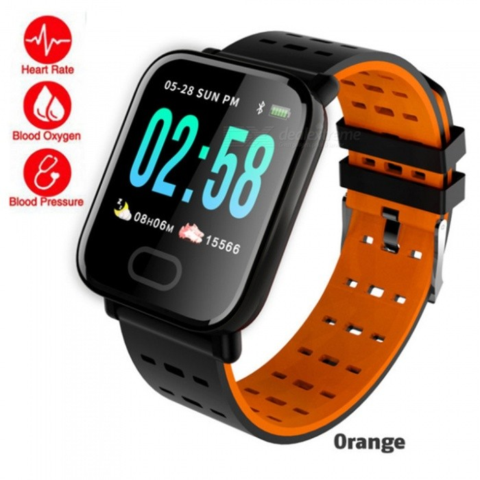 A6 Fitness Activity Tracker Heart Rate Smart Wristbands Watch Bracelet Men Blood Pressure Waterproof