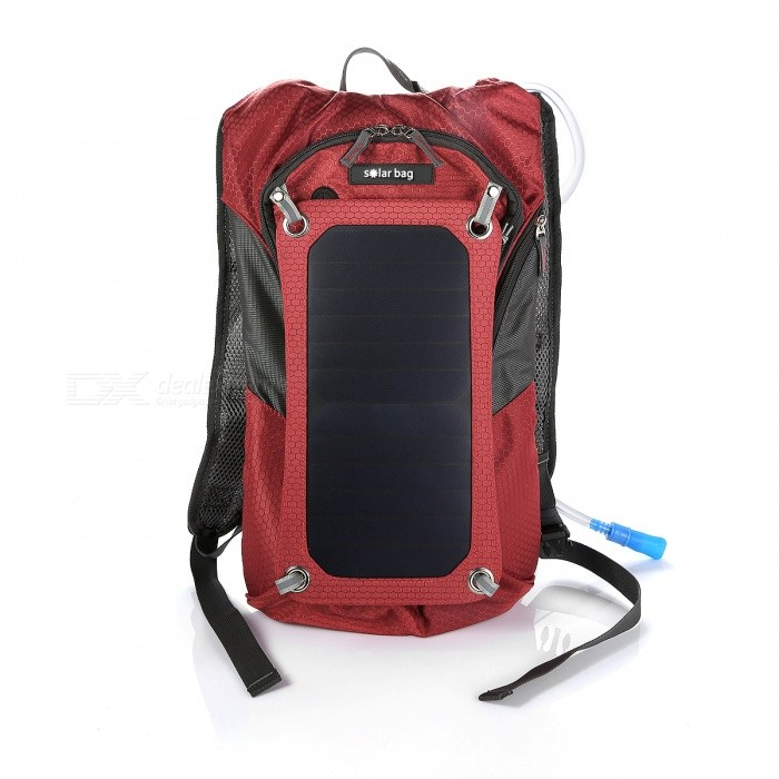Sport Cycling Water Bag Outdoor Solar Panel USB Charger Bicycle Hydration Backpack Knapsack