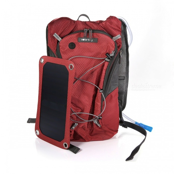 e12ccbde72f ... Sport Cycling Water Bag Outdoor Solar Panel USB Charger Bicycle  Hydration Backpack Knapsack ...