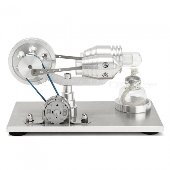 Maikou Stainless steel Mini Hot Air Stirling Engine Motor Model Educational Toy Kits