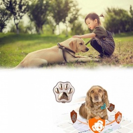 ESAMACT Lovely Smart GPS Led Flashing Electronic Pet Anti-lost Tracker Micro Waterproof Wifi Safety Alarm Dog Finder Locator