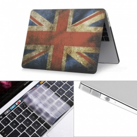 "Dayspirit 3 in 1 Printing Case + Keyboard Cover + Anti-dust Plugs for MacBook Pro 15.4"" 2016 (A1707) - British flag"