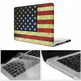 "Dayspirit Printing Case + Keyboard Cover + Anti-dust Plugs for MacBook Pro 13.3"" with CD-ROM (A1278) - American flag"