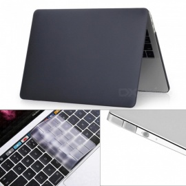 "Dayspirit 3 in 1 Matte Case + Keyboard Cover + Anti-dust Plugs for MacBook Pro 13.3"" 2016 (A1706/A1708) - Black"
